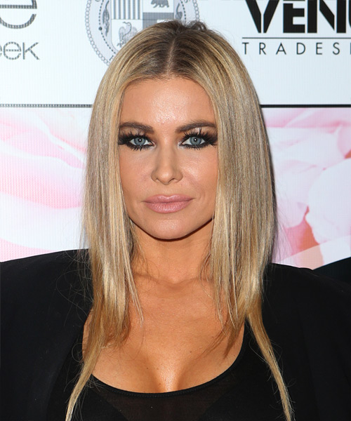 Carmen Electra Medium Straight Casual Hairstyle - Medium Blonde Hair Color