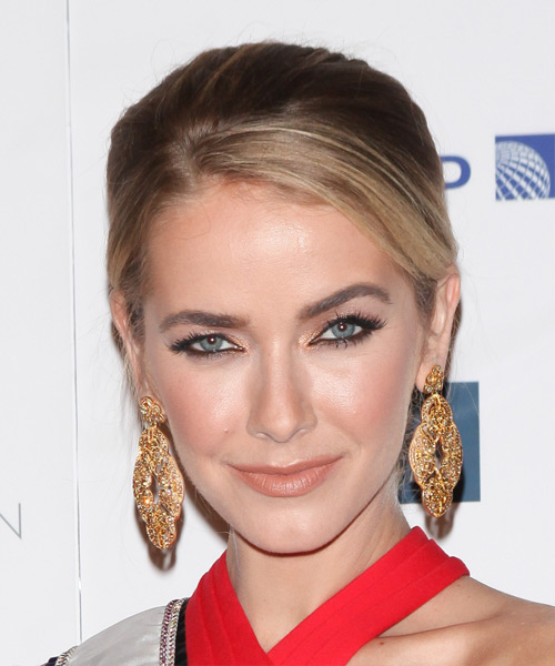 Olivia Jordan Long Straight Formal Updo Hairstyle