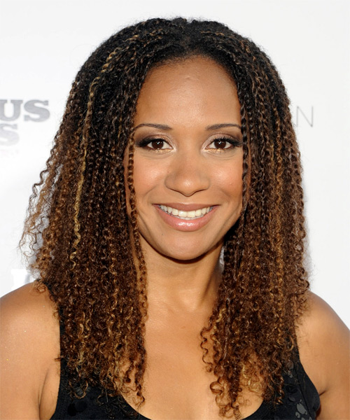 Tracie Thoms Long Curly Casual