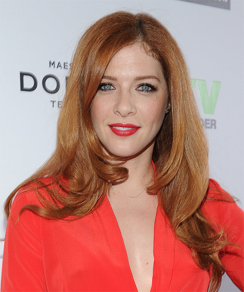 Rachelle Lefevre Long Straight Formal Hairstyle - Light Red (Ginger) Hair Color