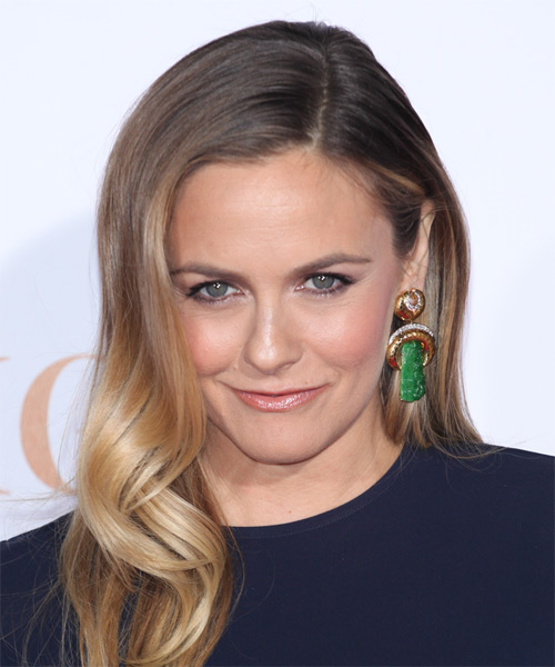 Alicia Silverstone Long Wavy Formal Hairstyle - Light Brunette ...