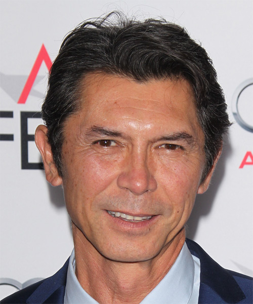 Lou Diamond Phillips Short Straight Casual Hairstyle - Black Hair Color