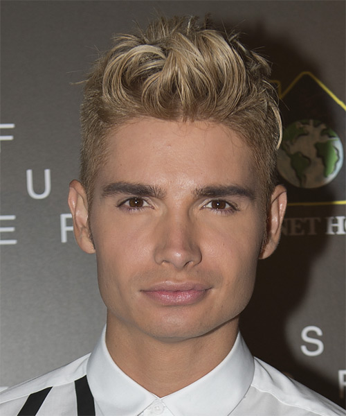 Christian Acosta Short Straight Casual Hairstyle - Light Blonde (Champagne) Hair Color
