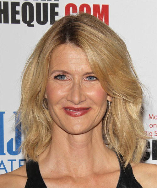 Laura Dern Medium Straight Casual  (Golden)