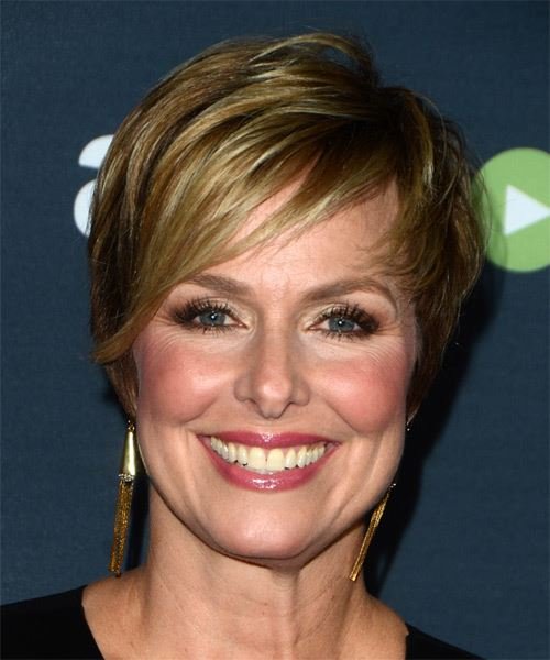 Melora Hardin Short Straight Hairstyle - Dark Blonde (Ash)