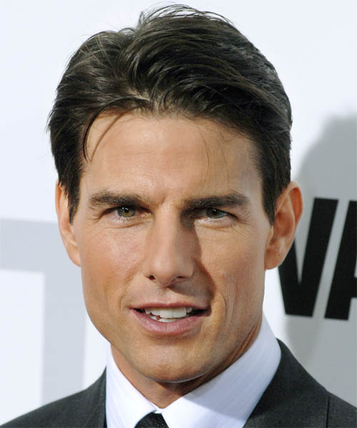 Tom Cruise slicked back side hair
