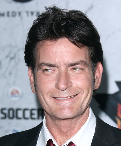 Charlie Sheen Short Straight Casual