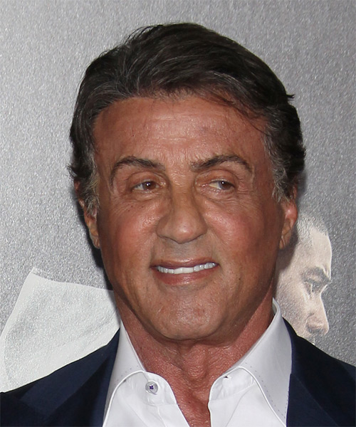 Sylvester Stallone Short Straight Casual Hairstyle - Dark Grey