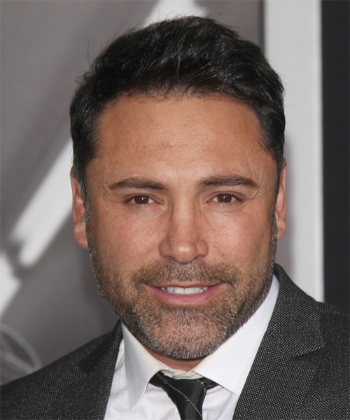 Oscar De La Hoya Short Straight Casual Hairstyle - Black Hair Color