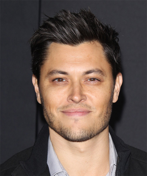Blair Redford  Short Straight Casual Hairstyle - Black Hair Color