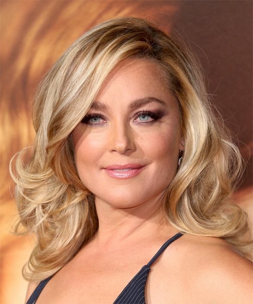 Elisabeth Rohm Long Wavy Hairstyle - Medium Blonde (Golden)