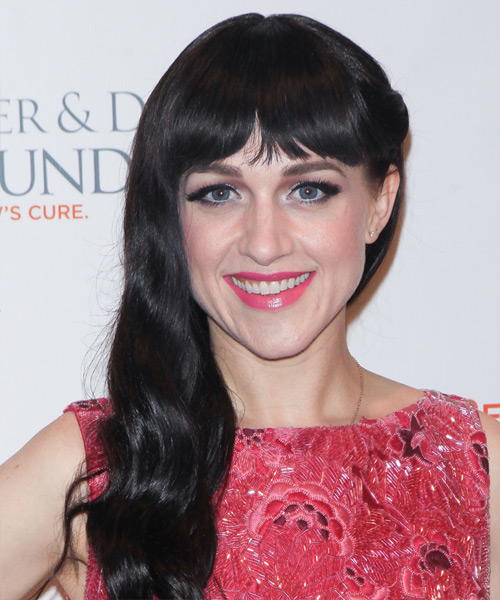 Lena Hall Long Wavy Casual Hairstyle - Black Hair Color
