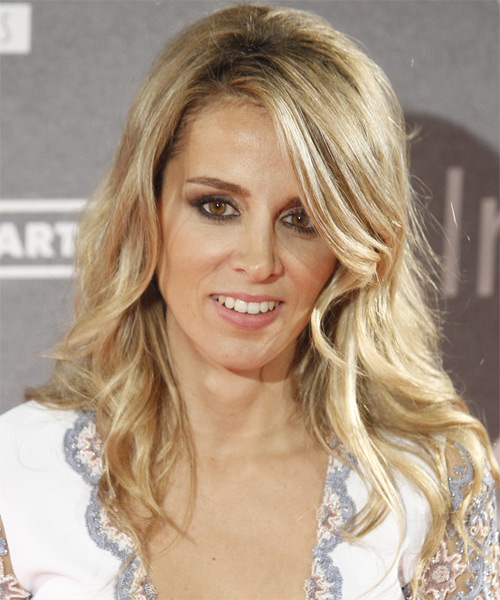 Alejandra Silva Long Wavy Casual Hairstyle - Medium Blonde (Golden) Hair Color