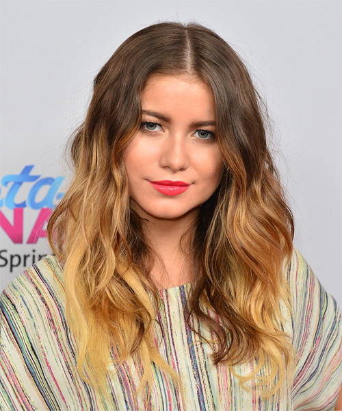 Sofia Reyes Long Wavy Casual Hairstyle - Medium Brunette Hair Color