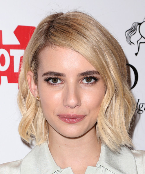 Emma Roberts Medium Straight Casual Hairstyle - Light Blonde