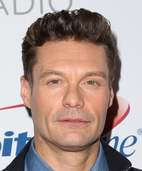 Ryan Seacrest Short Straight Casual Hairstyle (Chocolate)