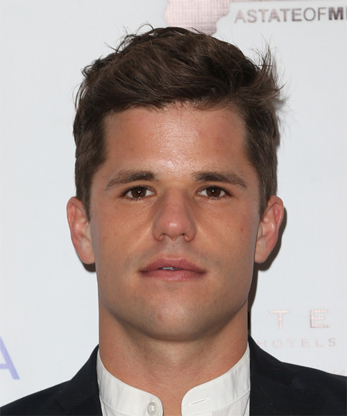 Charlie Carver  Short Straight Casual Hairstyle - Medium Brunette Hair Color