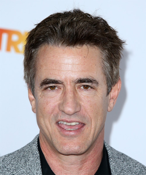 Dermot Mulroney Short Straight Hairstyle - Medium Brunette (Grey)