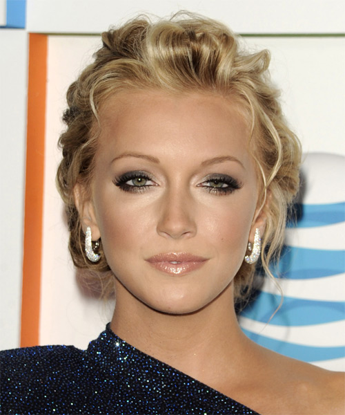 Fabulous Katie Cassidy Updo Curly Casual Hairstyle Thehairstyler Com Short Hairstyles Gunalazisus