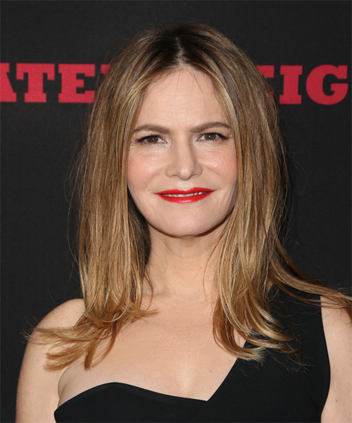 Jennifer Jason Leigh Long Straight Casual Hairstyle - Light Brunette Hair Color