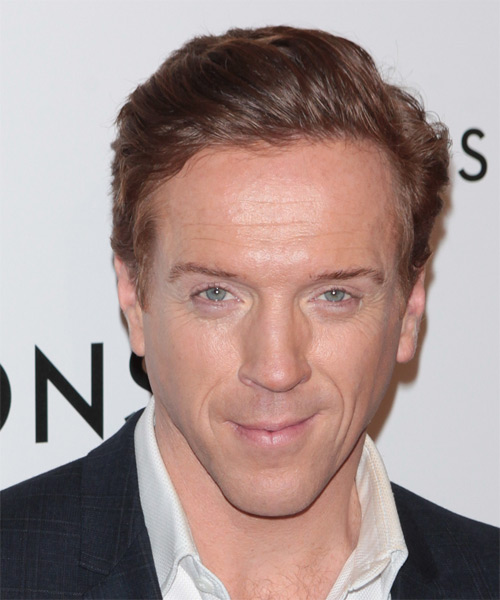 Damian Lewis Short Straight Formal Hairstyle - Medium Brunette (Auburn)