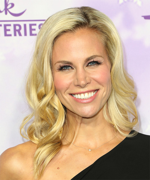 Brooke Burns Long Wavy Formal Hairstyle Medium Blonde