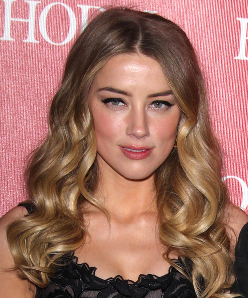 Amber Heard Long Wavy Formal