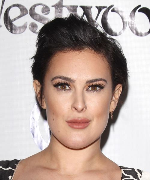 Rumer Willis Short Straight Hairstyle - Dark Brunette