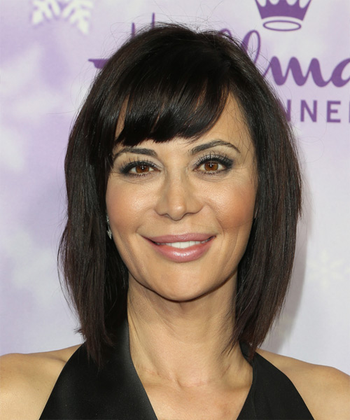 Catherine Bell Medium Straight Hairstyle