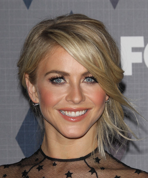 Julianne Hough Medium Wavy Formal Updo Hairstyle