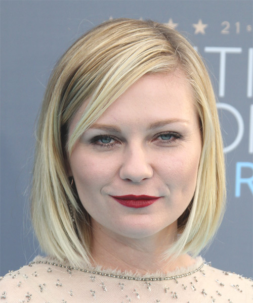 Kirsten Dunst Medium Straight Bob Hairstyle