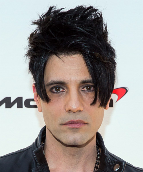 Criss Angel Short Wavy Hairstyle - Black
