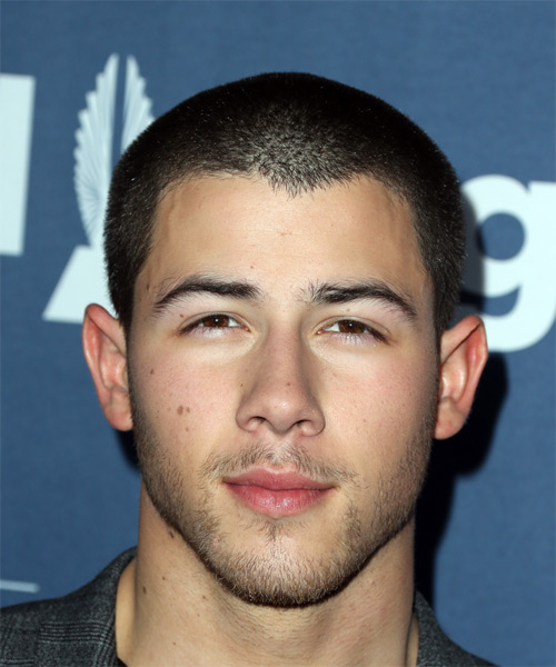 Nick Jonas Short Straight Casual  - Black