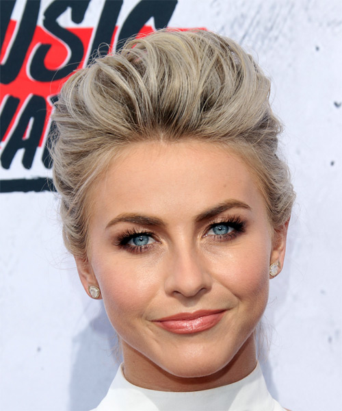 Julianne Hough Formal Straight Updo Hairstyle - Light Blonde (Platinum)