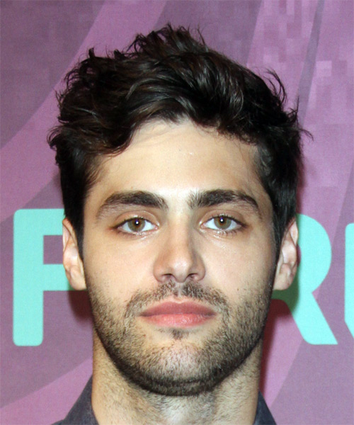 Matthew Daddario Short Wavy Hairstyle - Dark Brunette