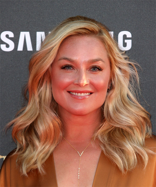 Elisabeth Rohm Long Wavy Casual Hairstyle - Light Blonde Hair Color