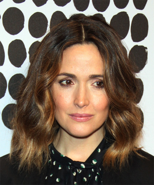 Rose Byrne Medium Wavy Casual Bob Hairstyle - Medium Brunette (Chocolate) Hair Color