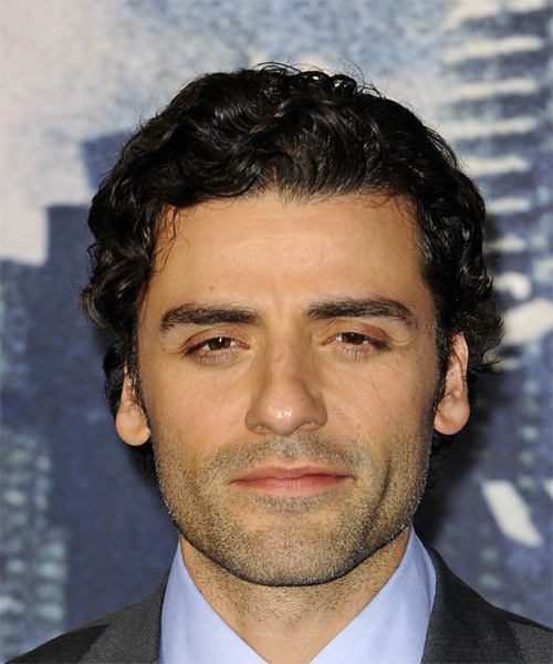 Oscar Isaac Short Wavy Formal Hairstyle - Black Hair Color