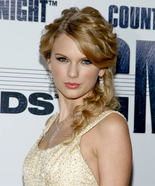 Taylor Swift Formal Curly Updo Hairstyle - Dark Blonde (Golden)