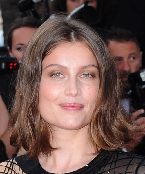 Laetitia Casta Medium Straight Casual Bob Hairstyle - Medium Brunette (Golden) Hair Color