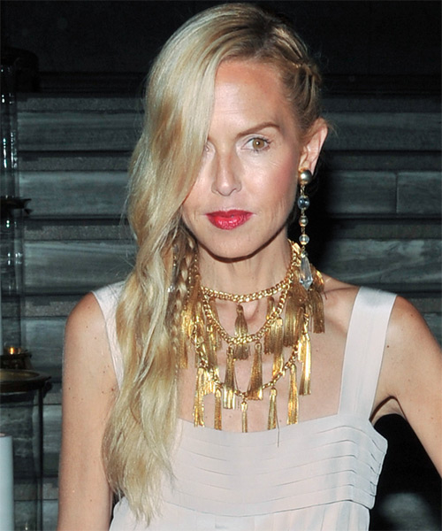 Rachel Zoe Long Wavy Casual Hairstyle - Light Blonde Hair Color
