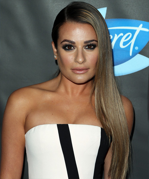 Lea Michele Long Straight Formal