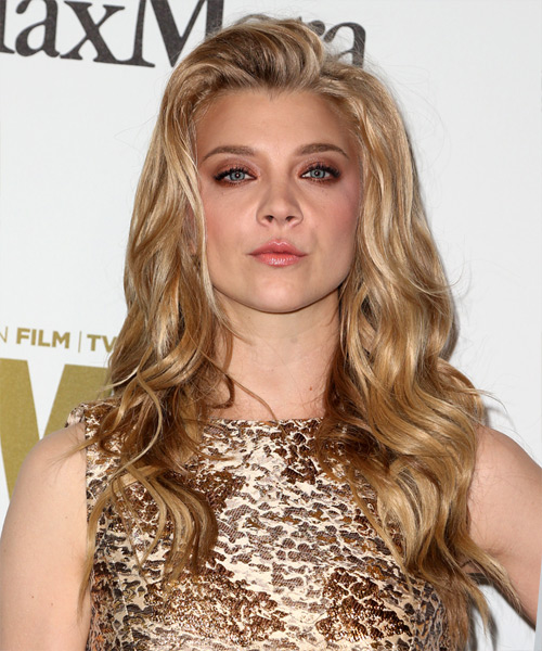 Natalie Dormer Long Wavy Casual Hairstyle - Medium Blonde (Honey) Hair Color