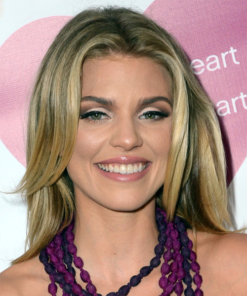 AnnaLynne McCord Medium Straight Casual Hairstyle - Medium Blonde (Golden) Hair Color