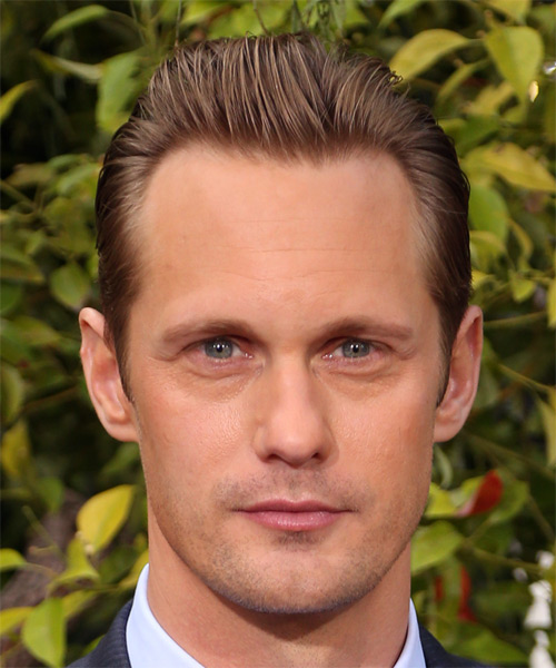Alexander Skarsgard Short Straight Formal Hairstyle - Light Brunette Hair Color