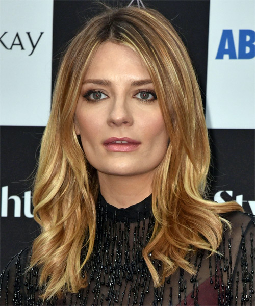 Mischa Barton Medium Straight Casual Hairstyle - Dark Blonde (Golden) Hair Color