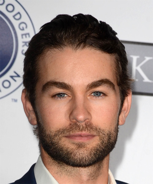 Chace Crawford Short Straight Casual Hairstyle - Dark Brunette Hair Color