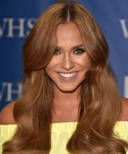 Vicky Pattison Long Wavy Casual Hairstyle - Medium Brunette Hair Color