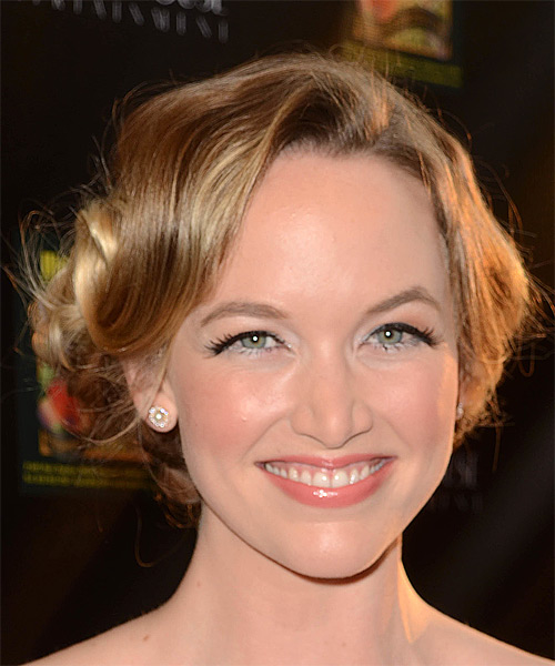 Kelley Jakle Long Wavy Formal Wedding Updo - Dark Blonde