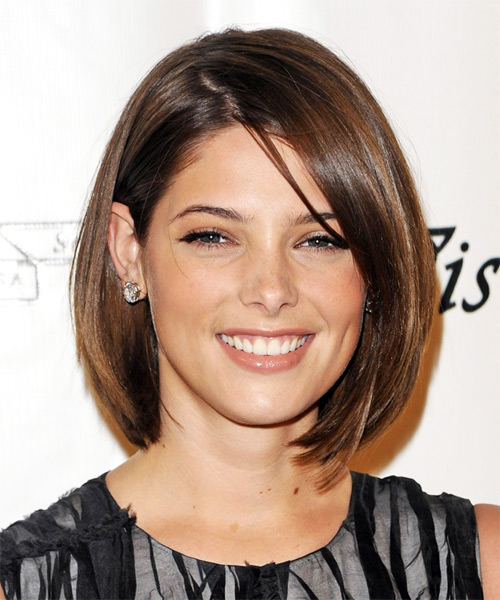 Ashley Greene Medium Straight Formal Hairstyle
